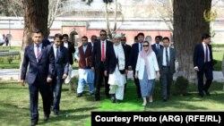محمد اشرف غنی رئیس جمهور و بانوی اول افغانستان رولا غنی در ارگ ریاست جمهوری
