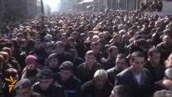 Large Crowds At Funeral For Armenian Family