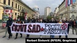 Protestna šetnja u Novom Sadu (19. april 2021)