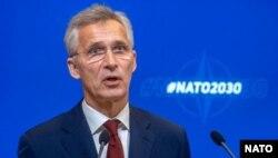Secretarul general NATO Jens Stoltenberg, 8 iunie 2020.