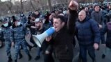 Opposition Protesters Attempt To Block Entrance To Armenian Parliament