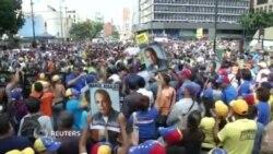 Venesuelada polislə etirazçılar toqquşub
