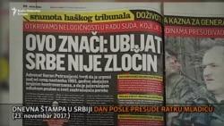 Mediji u Srbiji o presudi Mladiću