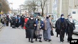 На митинге в Рене