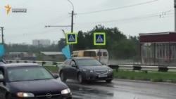 Автопробег с крымскотатарскими флагами