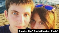 Blogger-ul belarus Ilhar Losik și soția sa, Daria.