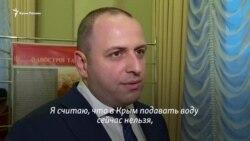 «Men qarşı çıqar edim» – Rustem Umerov Qırımğa suv satuv aqqında ayta (video)