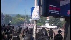 Судири меѓу демонстрантите и полицијата за Монструм