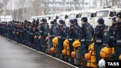 RUSSIA - Personnel and equipment of a Russian Emergencies Ministry unit is examined at the Noginsk Rescue Center before being sent to Nagorno-Karabakh as part of another humanitarian mission, November 23, 2020