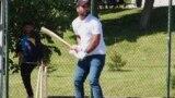 Bosnia and Herzegovina, Tuzla, Migrant playing cricket, video grab, May, 2021