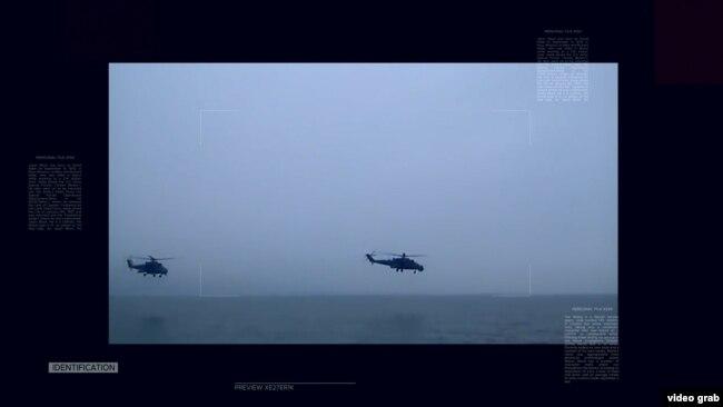 Російські вертольоти над Кримом, 2014 рік