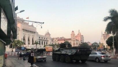 Yangon, Myanmar, 14. februar 2021