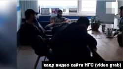 Кадр из видео, снятого в редакции НГС