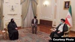 Ministrica vanjskih poslova Bosne i Hercegovine Bisera Turković s novoizabranim predsjednikom Islamske Republike Iran Ebrahimom Raisijem
