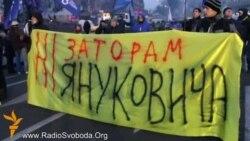 «Ні заторам Януковича» – активісти Євромайдану зустрічали кортеж президента