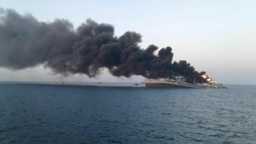 اطفای حریق در ناو خارک ناموفق ماند و این ناو روز ۱۲ خرداد در دریای عمان غرق شد