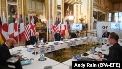 Сустрэча міністраў замежных спраў краінаў G7 у Lancaster House ў Лёндане.