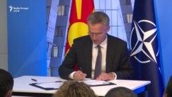 Maqedonia nënshkruan marrëveshjen për anëtarësim në NATO