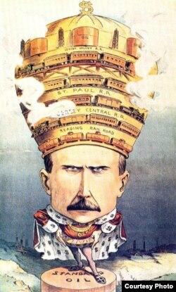 Карикатура на Джона Рокфеллера-старшего
