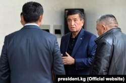 Kyrgyz President Sooronbai Jeenbekov said he is ready to resign but only after all necessary steps to establish law and order in the country are restored.
