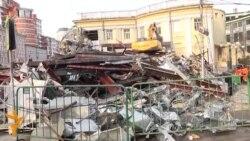 Uništavanje trgovačkih tezgi u Moskvi