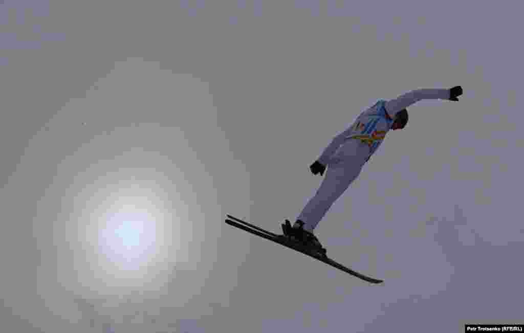 Skiers accelerate to more than 50 kilometers per hour before launching into acrobatic routines in the air.