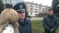 Міліція Рівного не схвалила «Путіна» на жалобній акції