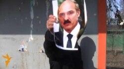 У Бішкеку спалілі партрэт Лукашэнкі