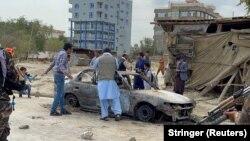 Автомобиль, из которого, предположительно, был нанесён удар по аэропорту Кабула