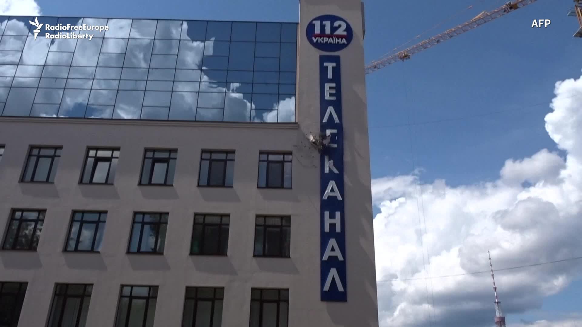 Grenade Attack Hits Ukraine TV Channel