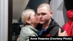 Никита Уваров с матерью
