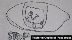 Asociația Telefonul Copilului derulează proiecte remediale. Copiii se exprimă prin desene.