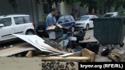 Последствия потопа в Керчи, 22 июня 2021 года