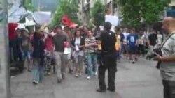 Скопје - Протести против екстерното тестирање