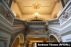 Interiorul Băncii Naționale a României din București.