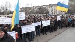 Працівники запорізького обленерго страйкують через зарплатні борги (відео)
