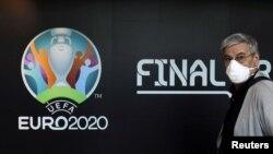 Ռումինիա - Եվրո-2020-ի լոգոն Բուխարեստում, արխիվ