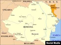 Harta României în perioada interbelică