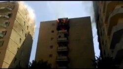 Bakıda Yasamalda binada yanğın