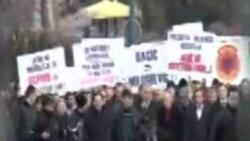 Protesta në mbështetje të Luginës