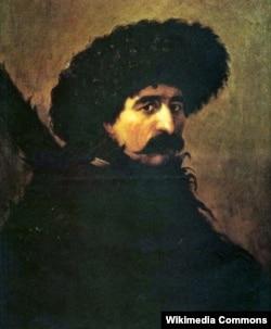 Портрет неизвестного в бурке и в папахе