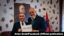 Македонскиот вицепремиер Артан Груби на средба со албанскиот премиер Еди Рама, Тирана 23 март 2021