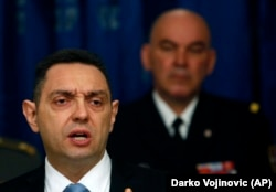 Former Serbia Defense Minister Aleksandar Vulin is now interior minister, in a move seen as a de facto demotion.