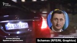 Одразу за президентом виїхав Mercedes, яким користується міністр розвитку громад та територій Олексій Чернишов