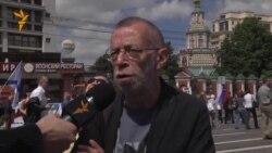 """Лев Рубинштейн на марше """"За вашу и нашу свободу"""""""