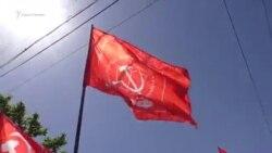 «Kommunist degilmiz»: Aqmescitte birinci mayıs numayışı (video)