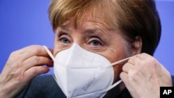 Cancelara germană Angela Merkel anunță prelungirea lockdown-ului, Berlin, 19 ianuarie 2021