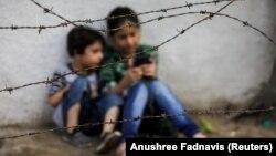 Дети беженцы из Афганистана