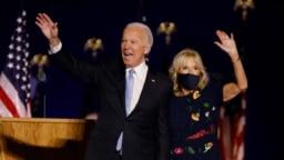 Presidenti i zgjedhur i Shteteve të Bashkuara, Joe Biden, dhe gruaja e tij, Jill.