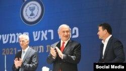 از چپ به راست: داوید بارنِهئا، رئیس جدید موساد، بنیامین نتانیاهو، نخستوزیر اسرائیل، و یوسی کوهن، رئیس فعلی موساد.